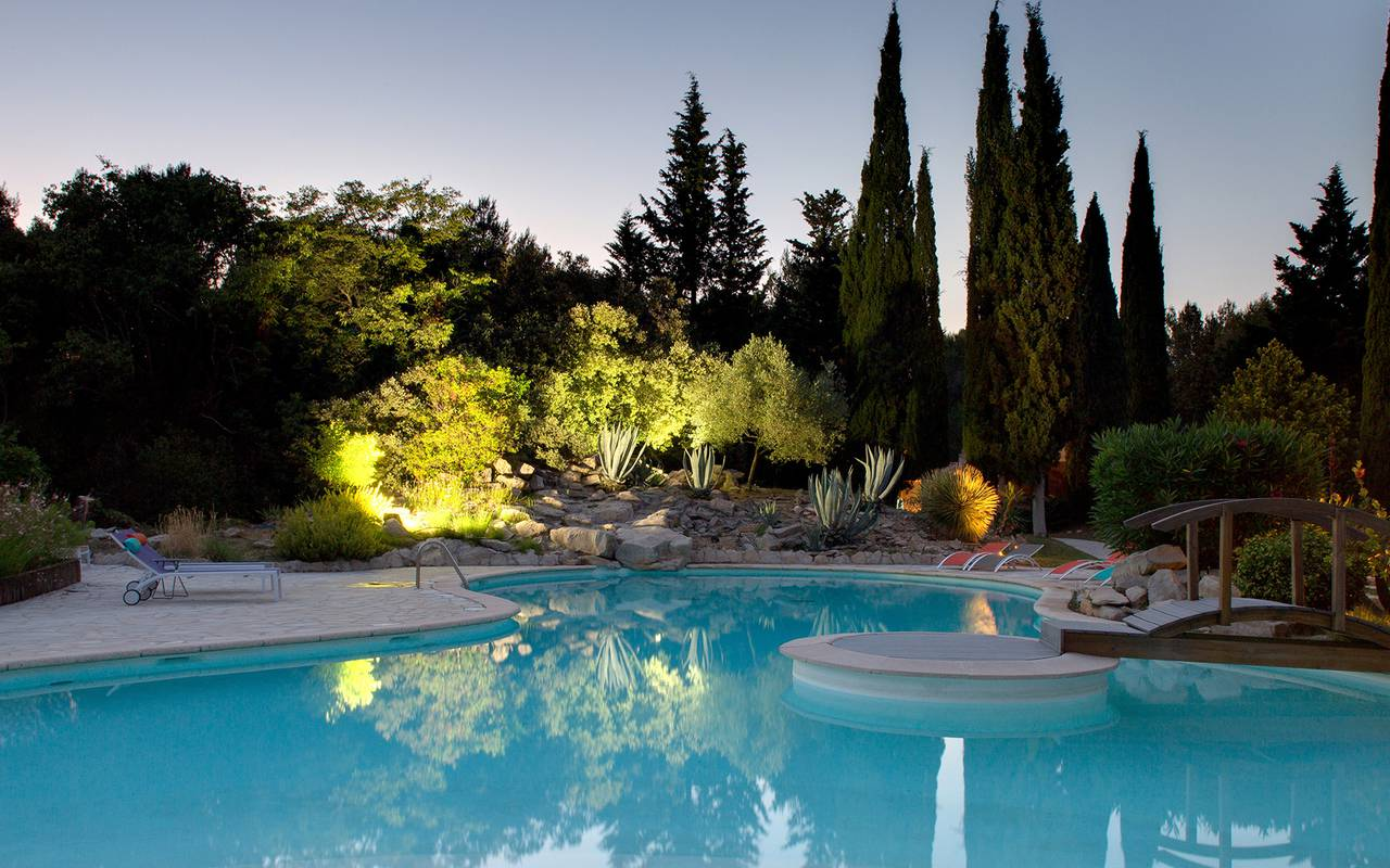 swimming pool at villa vicha hotel - hotel spa nimes